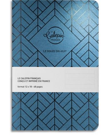 Carnet lignes 12x18 pour écrire bleu peacock