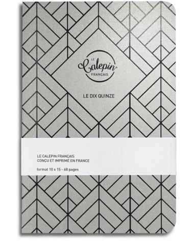 carnet de notes pointillés 10x15cm argent metal