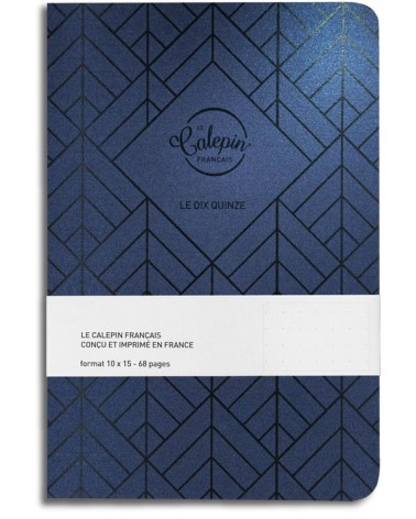 carnet A§ pour todo list bleu metal
