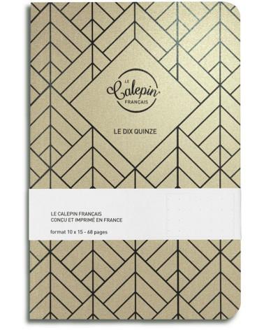 gold metallic A6 notebook