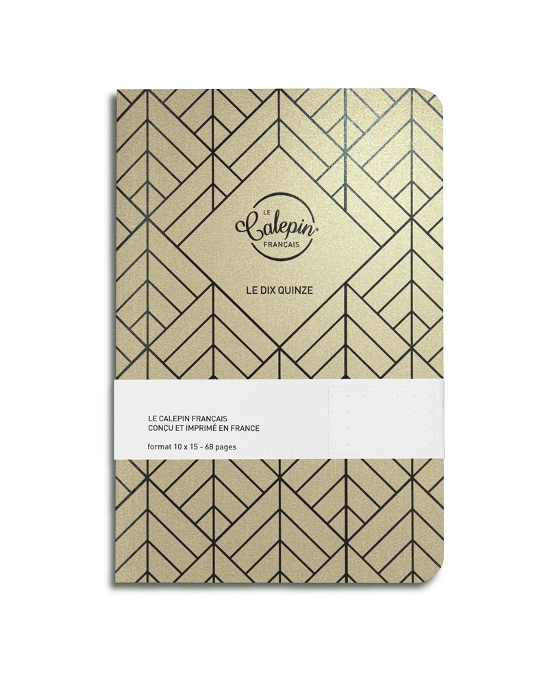 gold metallic A6 notebook made in France