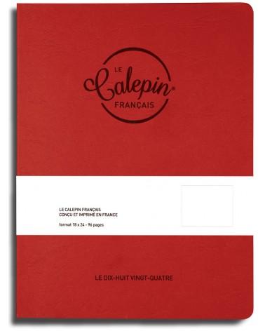 carnet dessin 18x24cm rouge effet cuir