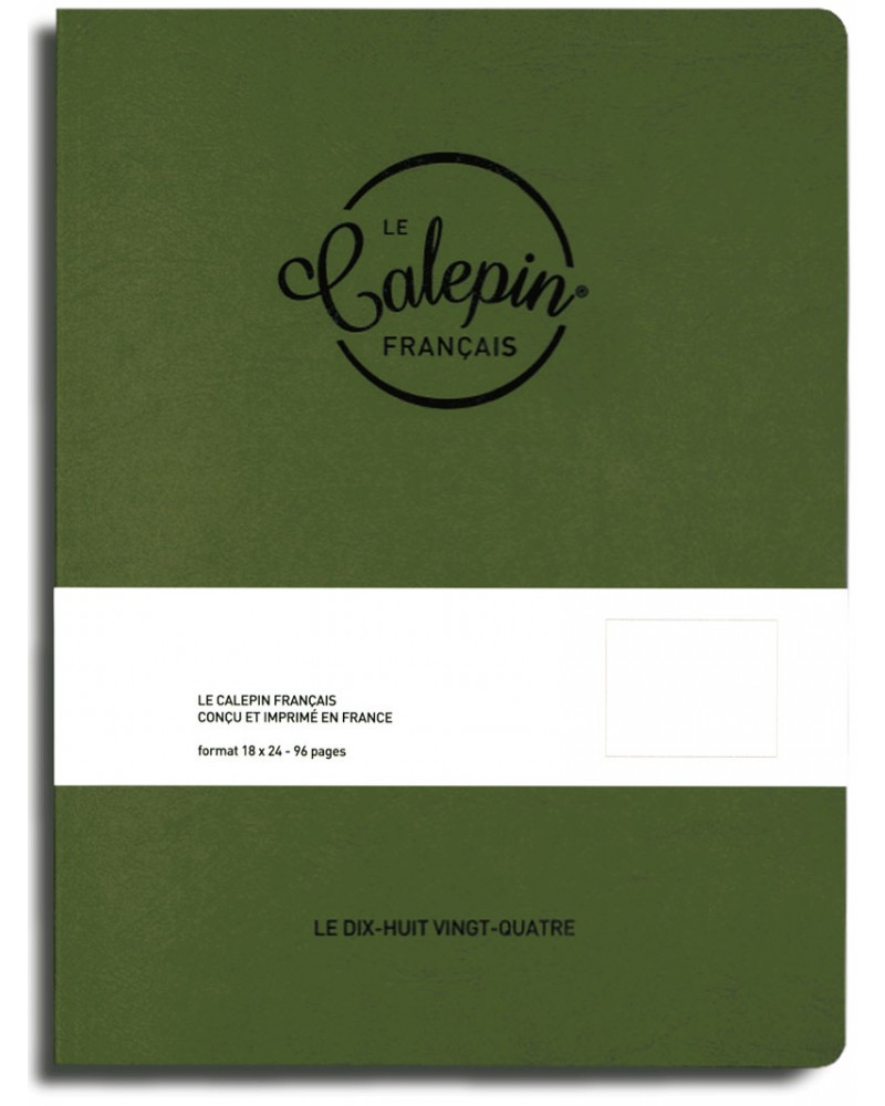 cahier croquis dessin 18x24cm vert