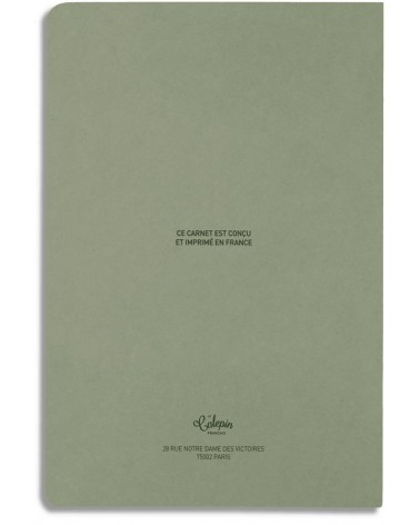 carnet vert 12x18cm pour poème, citations, notes, poésie