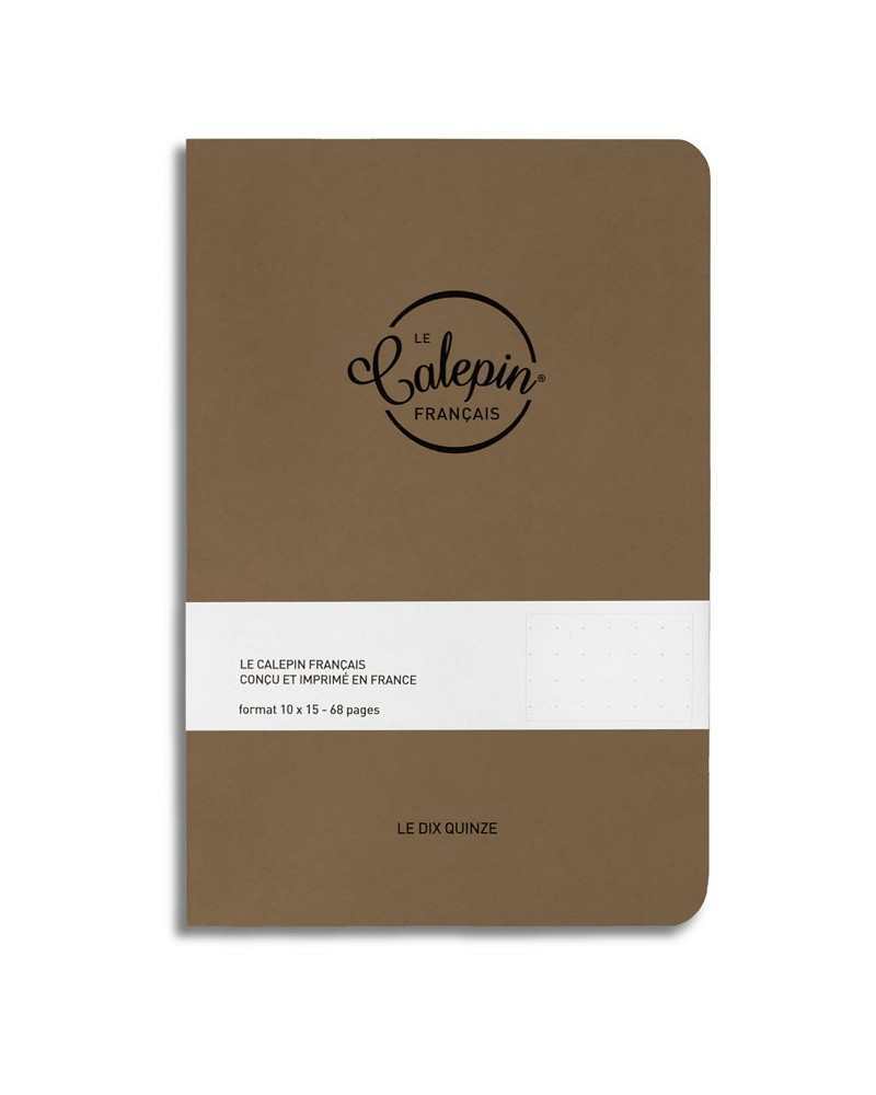 cahier de notes A6 marron
