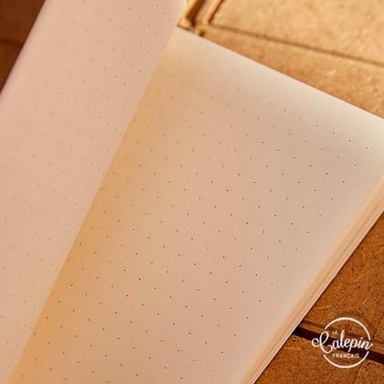 Intérieur points dots sur papier 70g offset bouffant pour le carnet de notes 10x15cm