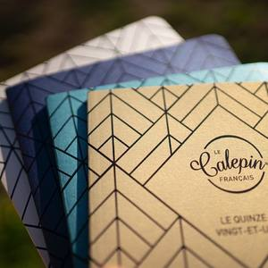 Collection Les Métalliques.  3 formats : 10x15, 12x18 et 15x21. 4 couleurs différentes : or, argent, bleu foncé et bleu-vert.